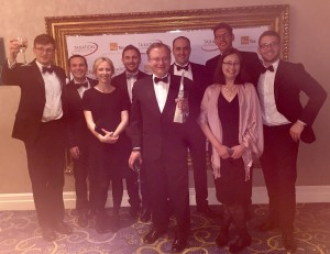 The team at Mark Davies & Associates celebrate at the Awards.